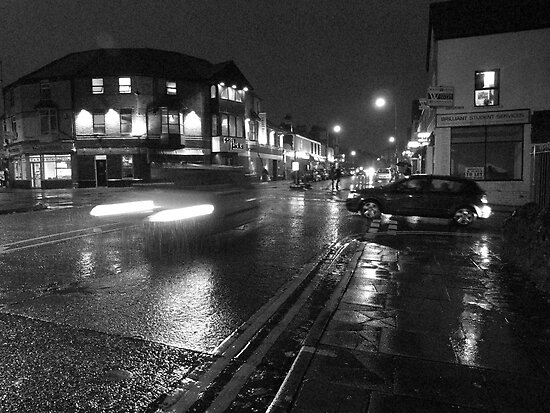 Wet Evening, Salisbury Road Cardiff (3) by Artberry