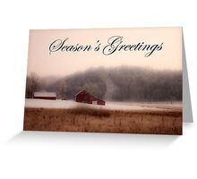 Season's Greetings From Down On The Farm Greeting Card