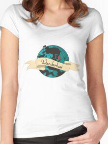 Wanderlust Globe Women's Fitted Scoop T-Shirt