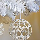 White Christmas Ornament by Anetka