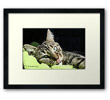 Tiny Tongue Framed Print