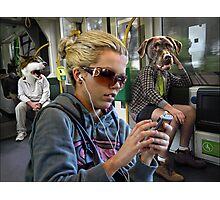 the strangeness of melbourne commuters Photographic Print