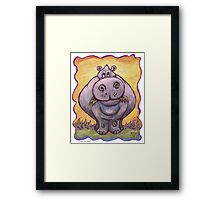 Animal Parade Hippopotamus Framed Print