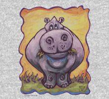 Animal Parade Hippopotamus One Piece - Short Sleeve