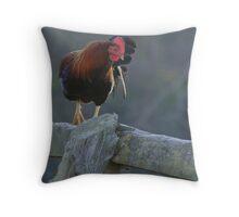 Random Poultry Throw Pillow