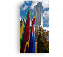 Building and Sculpture Canvas Print