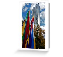 Building and Sculpture Greeting Card