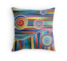 Color Wave and Suckers Throw Pillow