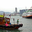 "The ""old"" and ""new"" on Hongkong's Victoria Harbor by John Mitchell"