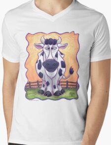Animal Parade Cow Mens V-Neck T-Shirt