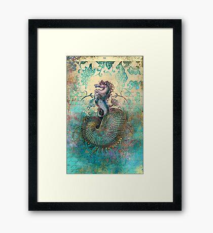 The Seahorse Diary Framed Print