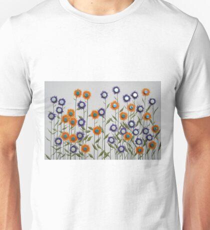 Mosaic Flowers Unisex T-Shirt