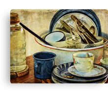 Old Time Cups and Dishes Canvas Print