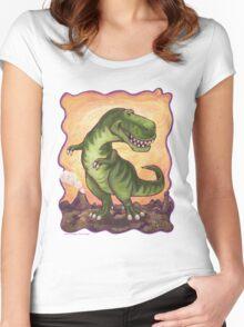 Animal Parade Tyrannosaurus Women's Fitted Scoop T-Shirt