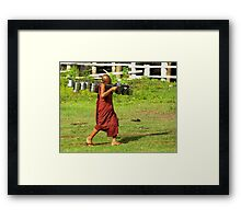 Machine gun monk Framed Print