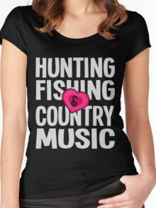 HUNTING FISHING COUNTRY MUSIC Women's Fitted Scoop T-Shirt