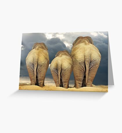 Traveling Elephant Family  Greeting Card