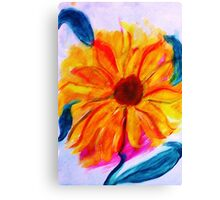 The Sunflower, watercolor Canvas Print