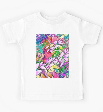Grunge Art Floral Abstract Kids Tee