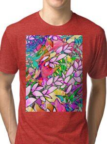 Grunge Art Floral Abstract Tri-blend T-Shirt