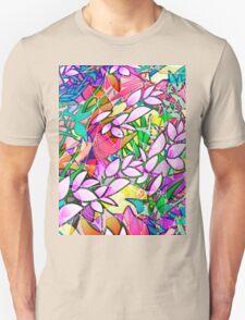 Grunge Art Floral Abstract T-Shirt