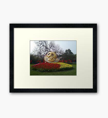 Panda base Framed Print