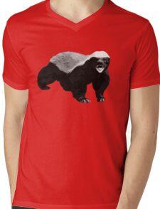 Honeybadger Mens V-Neck T-Shirt