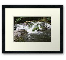 Waterfall In The Smokies Framed Print