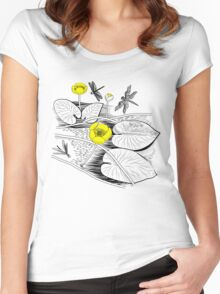 Water-lilies  Women's Fitted Scoop T-Shirt