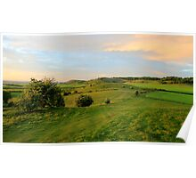 Looking towards Ivinghoe Beacon, Buckinghamshire, England Poster
