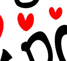 I LOVE KPOP in Korean language txt hearts vector art  Sticker