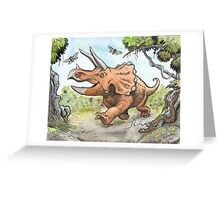 Happy Triceratops Greeting Card