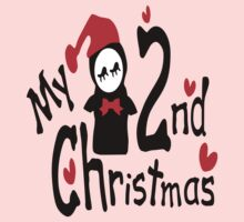 My 2nd Christmas penguin vector art  One Piece - Long Sleeve