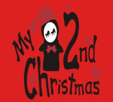 My 2nd Christmas penguin vector art  One Piece - Short Sleeve