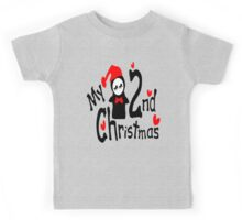 My 2nd Christmas penguin vector art  Kids Tee