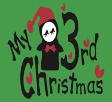 My 3rd Christmas txt penguin vector art Kids Tee