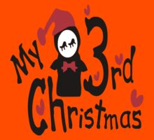 My 3rd Christmas txt penguin vector art Kids Clothes