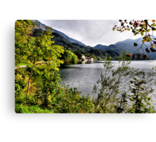 enjoying the lake Canvas Print