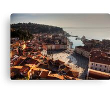 Piran from above Canvas Print
