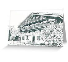 Chalet, French Alps Greeting Card