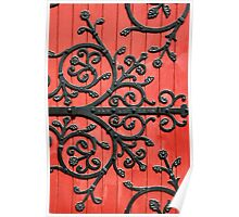 Cast Iron Decorative door Poster