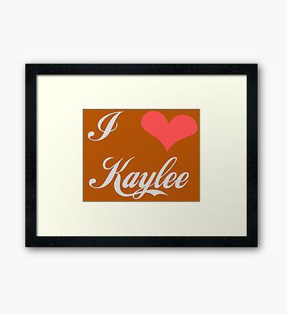 I love Kaylee for Dark Colors Framed Print