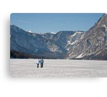 Across the frozen lake Canvas Print