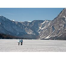 Across the frozen lake Photographic Print