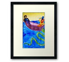 Thor and Hymir go Fishing Framed Print