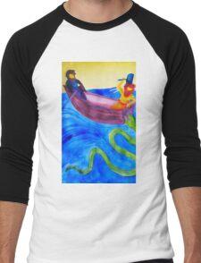 Thor and Hymir go Fishing Men's Baseball ¾ T-Shirt
