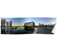 Webb & Bolte Bridges Panorama, Docklands. Poster
