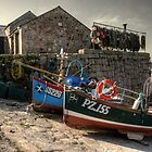 Fishing boats at Sennen Cove 2 by Rob Hawkins