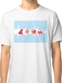 Chicago Flag with Logos and Skyline Poster Classic T-Shirt