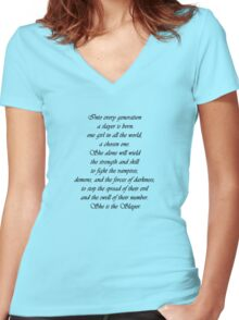 She is the Slayer Women's Fitted V-Neck T-Shirt